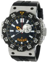 CAT D314521124 Deep Ocean Chrono Black Analog Dial and Stainless Steel Case with Black Rubber Strap