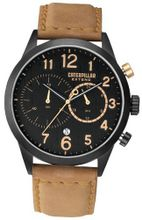 CAT Extend , Black / Gold Dial and Beige Leather Strap