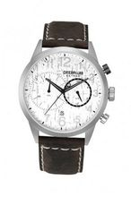 CAT Extend , White Dial and Brown Leather Strap