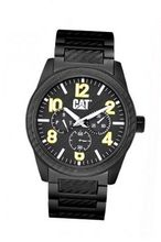 CAT G-0 , Black / Yellow Dial and Aluminium Black Strap