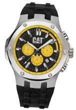 CAT Navigo , Black / Yellow Dial and Black Rubber Strap
