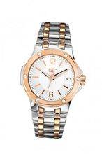 CAT Navigo Lady , White / Rose Gold Dial and Stainless Steel W/ Rose Gold Strap