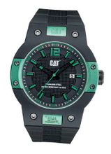 CAT Northcape Round , Black / Silver Dial and Black Rubber Strap