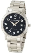 Catorex 119.1.8170.320/BM Attractive Automatic Stainless Steel Number Black Dial