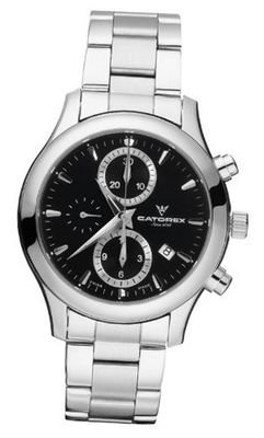 Catorex 138.1.8169.350/BM C'Chrono Tradition Automatic Chronograph Black Dial Sub-Seconds Date Stainless Steel Bracelet