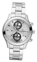 Catorex 138.1.8169.450/BM C'Chrono Tradition Automatic Chronograph Silver Dial Sub-Seconds Date Stainless Steel Bracelet