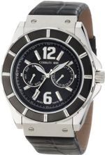 Cerruti 1881 CRA015E222H La Montre Black Dial Black Leather
