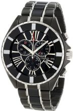 Cerruti 1881 CRA034F221G Chronograph Black Dial Two Tone Stainless Steel