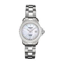 Certina C12971844891 31mm Diamonds Silver Steel Bracelet & Case Anti-Reflective Sapphire