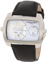 Charles-Hubert, Paris 3743-W Premium Collection Stainless Steel Dual-Time