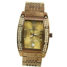 Charlie Jill in Brown Dial Brown Stainless Steel Bracelet