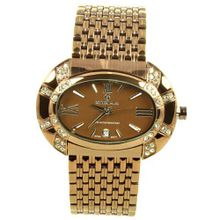 Charlie Jill in Brown Dial Enchanted with Rhinestone Brown Stainless Steel Bracelet