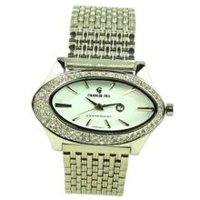 Charlie Jill in Silver Dial Enchanted with Rhinestone and Stainless Steel Bracelet
