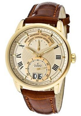 Charmex Zermat Champagne Dial Brown Crocodile Leather 1956