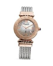 Charriol Alexandre C Large Round Pink Gold Plated Steel , 36mm ACL.51.801