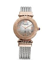 "Charriol Alexandre ""C"" Small Round Pink Gold Plated Steel , ACS.51.801"