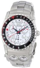 Chase-Durer 220.9WW6-BR21 Trident FCX 2 Alarm Chronograph White Dial