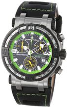 Chase-Durer 224.2BE-LEA Trackmaster Pro Chronograph 2nd Edition Green-Stitched Leather