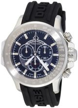 Chase-Durer 380.2BB-RUBB Firestorm Chronograph Stainless Steel Rubber Strap