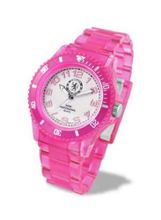 Chelsea FC Analogue Electric Ladies Translucent Pink Plastic Strap LA3262