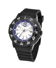 Chelsea Football Club Silicon Quartz with White Dial Analogue Display and Black Silicone Strap GA3258