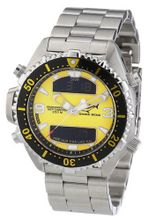 Chris Benz CB-D-YELLOW-MB Unisex Digital Stainless Steel