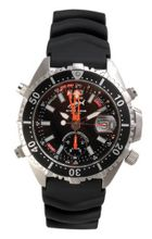 Chris Benz Depthmeter Analog 200m Black KB Diving for Him Screwed-in crown