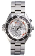 Chris Benz Depthmeter Chronograph 200m Silver MB Chronograph for Him Depth Gauge