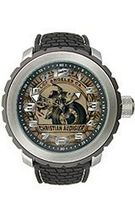 Christian Audigier Analog Collection Vintage-Black Beige Dial #GRA-415