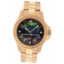 Christian Audigier Bright Garden Gents Rose Tone Stainless Steel ETE-112