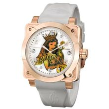 Christian Audigier Fortress Queen of Clubs Ion-Plating Rose FOR-201 Gold Dial