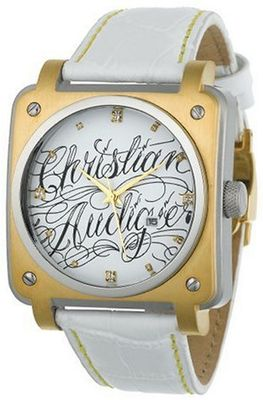 Christian Audigier Unisex FOR-204 Fortress Wild Twins Ion-Plating Gold