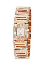 Chronostar Elegance Rose Brass Mother Of Pearl Dial with Crystal Bezel and Band