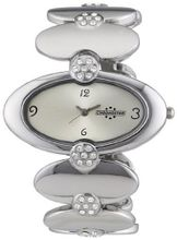 Chronostar Fashion Alloy Silver Dial with Crystal Band
