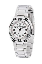 Chronostar Young 3H 32mm White Dial with Steel Bracelet