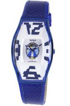 Chronotech CT.6281M-17 blue calfskin band .