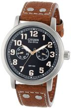 "Citizen AO9030-05E Eco-Drive ""Avion"" Brown Leather Strap and Stainless Steel"