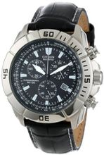 "Citizen AT0810-12E ""Eco-Drive"" Stainless Steel and Leather"