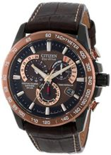 Citizen AT4006-06X Eco-Drive Perpetual Chrono A-T Atomic Clock Synchronization