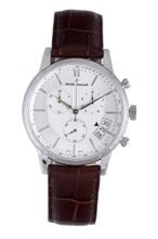 Claude Bernard 01002 3 AIN Classic Brown Leather Chrono Tachymeter Big Date