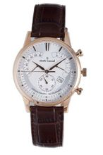 Claude Bernard 01506 37R AIR Classic Rose Gold PVD Silver Dial Chrono Leather