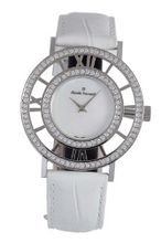 Claude Bernard 20072 3PB NA Ladies Fashion Mother-of-Pearl Swarovski Ivory Leather