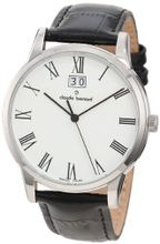 Claude Bernard 63003 3 BR Classic Gents White Dial Black Leather Date