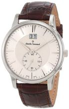 Claude Bernard 64005 3 AIN Classic Gents Silver Dial Brown Leather Date