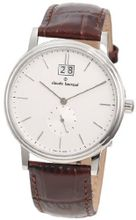 Claude Bernard 64010 3 AIN Classic Gents Silver Dial Brown Leather Date
