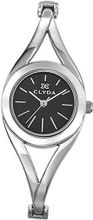 Clyda Analogue Quartz CLA0440RNIW Silver Metal Bracelet Black Dial