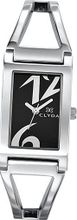 Clyda Analogue Quartz CLD0479RNBW Silver Metal Bracelet Black Dial