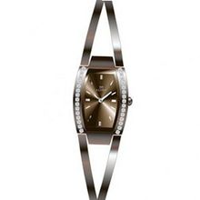 Clyda CLG0082JMIW Analog Quartz , Brown Steel Bracelet with Synthetic Stones