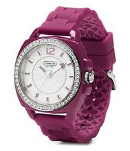 Coach - Ladies Boyfriend Berry Silicone Strap - 14501478