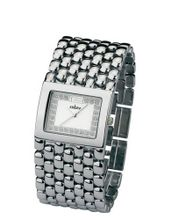 Cobra - CO105/1SSI - Ladies - Analogue Quartz - Silver Plated Metal Strap - Silver Dial with Rhinestones
